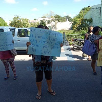 Protestan por reventa de terrenos en Kanasín