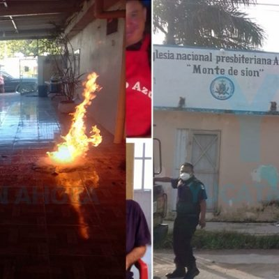 Arde en llamas una iglesia presbiteriana en Progreso
