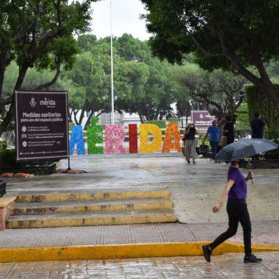 Frente frío deja nublados, lluvias y viento fuerte en Mérida