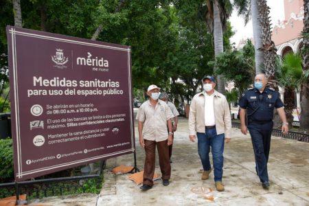Reabren la Plaza Grande bajo protocolos de salud contra el Covid-19