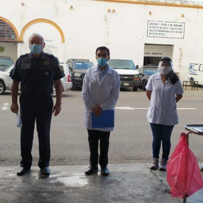Practican pruebas de Covid-19 a policías municipales