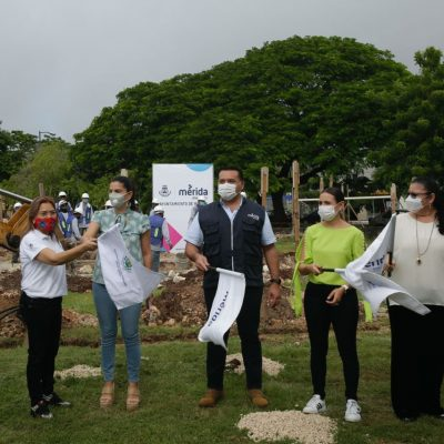 Arrancan obras del Centro del Adulto Mayor 'Armonía', en el Fraccionamiento del Parque