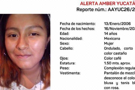 Emiten Alerta Amber por la desaparición de una jovencita en Kanasín