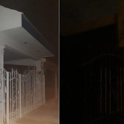 Noche de apagones 'cortesía' de CFE en Residencial del Norte Chenkú