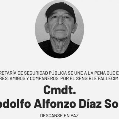 Luto en la SSP por fallecimiento del Comandante Rodolfo Díaz