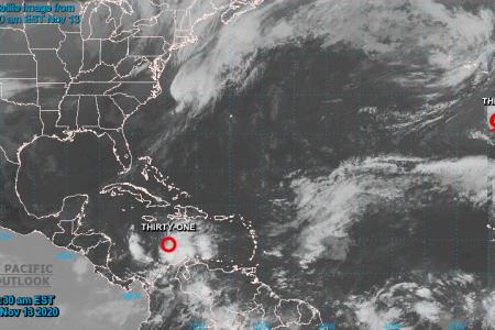 Se forma en el Caribe la depresión tropical 31 de la temporada de huracanes 2020