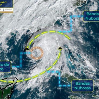 Se aleja el huracán Eta, pero sigue propiciando lluvias en la Península de Yucatán