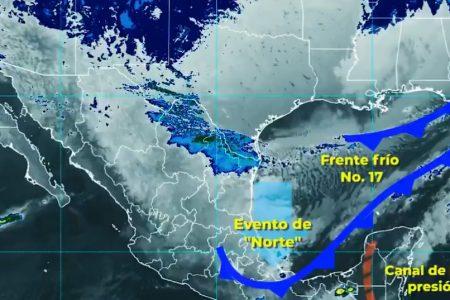 Comienza a afectar el frente frío 17 en Yucatán