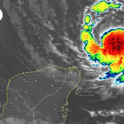 Eta dejará lluvia y viento en la Península de Yucatán
