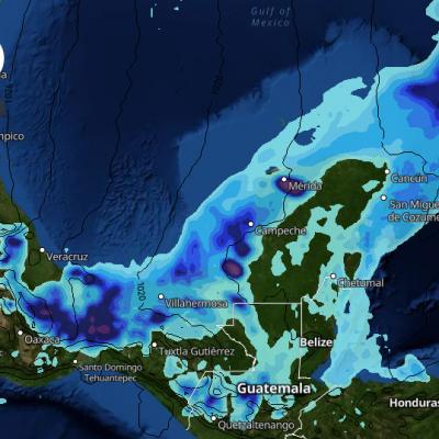 Aire frío se aproxima a la península de Yucatán