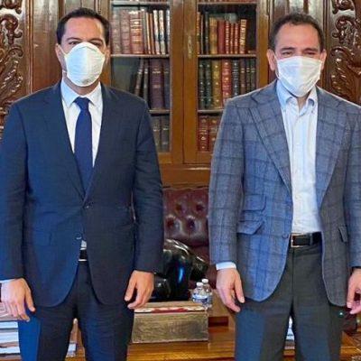 El gobernador Mauricio Vila se reúne con el secretario de Hacienda, Arturo Herrera Gutiérrez