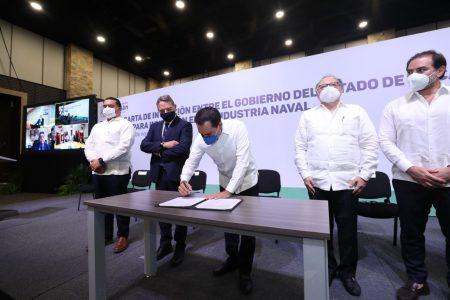 El Gobierno del Estado y Fincantieri anuncian inversión de 150 mdd en Progreso