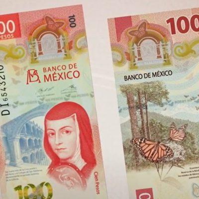 Conoce el nuevo billete de 100 pesos, con la imagen de Sor Juana