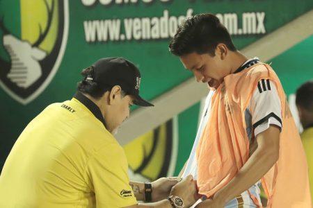 La visita de Maradona a Mérida para enfrentar a los Venados