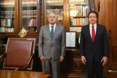 AMLO se reúne con Mario Delgado tras elección de Morena