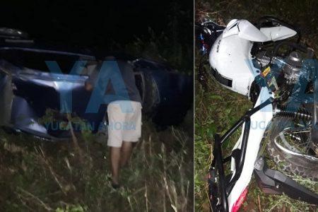 Moto vs automóvil: dos fallecidos