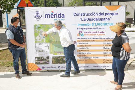 Parque con diseño participativo, también en La Guadalupana