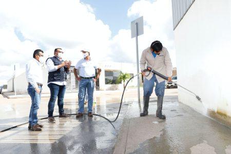 El Ayuntamiento limpia zonas de Mérida afectadas por inundaciones