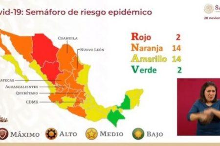 Aunque semáforo federal marca amarillo, Yucatán continúa en naranja: SSY