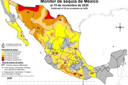 Península de Yucatán, libre de sequía tras lluvias de huracanes y tormentas