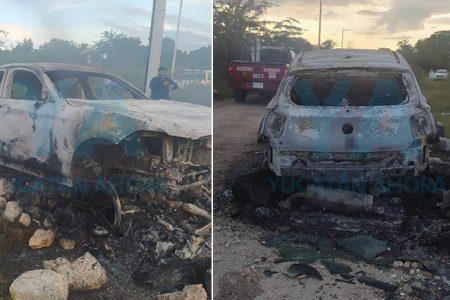 Tras accidentarse, se incendia y pierde su BMW