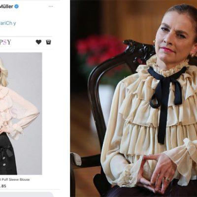 Beatriz Gutiérrez Müller aclara el precio de su blusa: no es Gucci y costó 1,390 pesos