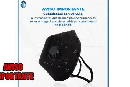Clínica de Mérida prohíbe uso de cubrebocas con válvula, te lo cambiarán para poder ingresar