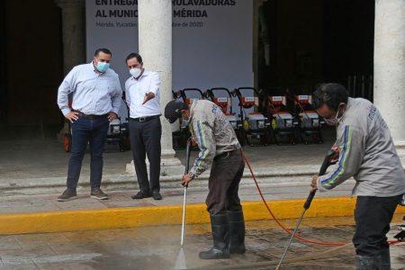 Rinde frutos el trabajo coordinado: Mérida estrena 12 hidrolavadoras