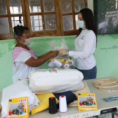 No estamos solos en esta pandemia, dicen artesanos agradecidos con apoyos del gobierno