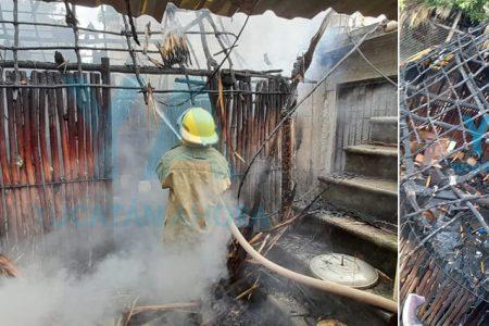 Niño incendia una casa por jugar con cerillos