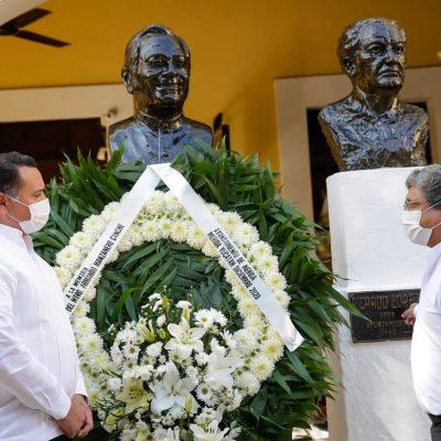 Ofrenda floral a Armando Manzanero en Santa Lucía