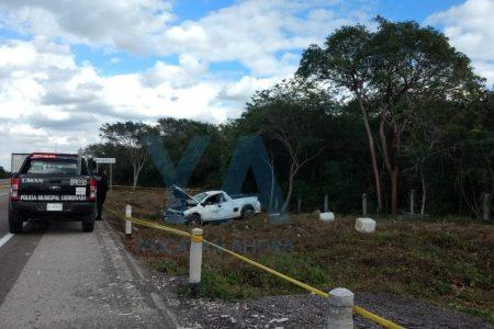 Conductor pierde la vida en la carretera Mérida-Campeche