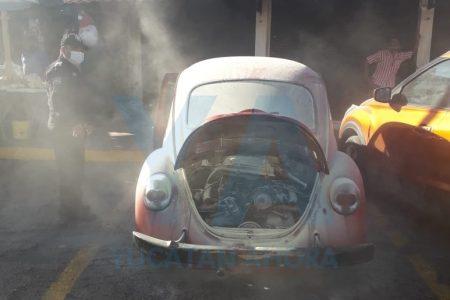 Actúa rápido y salva del fuego su amado VW clásico