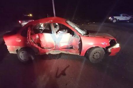 Choque con saldo de un hombre muerto, en la carretera Mérida-Tetiz