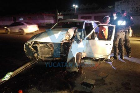 Fuerte accidente en la carretera Mérida-Umán, protagonizado por ebrio conductor