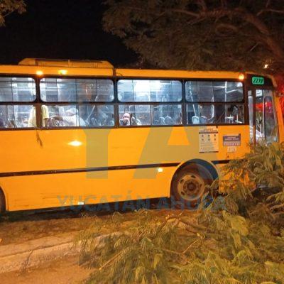 Autobús se queda sin frenos y causa desastre en la Avenida Tecnológico