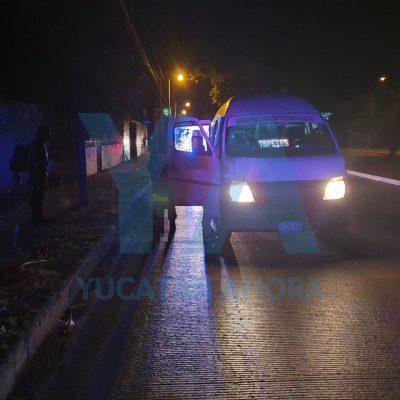Taxi colectivo atropella y mata a un adulto mayor en la Avenida Tecnológico