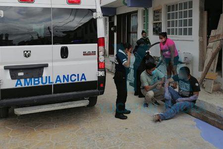 Cae de una escalera y se fractura un pintor en hotel de Progreso