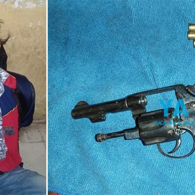 Empleados someten a sujeto que intentó asaltar con un arma en Sacalum