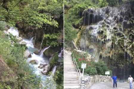 Tolantongo: cascada, montañas y agua caliente
