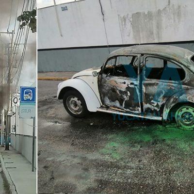 Por un cortocircuito, pierde su Volkswagen