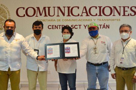 Sepomex y el Centro SCT Yucatán cancelan tres estampillas conmemorativas