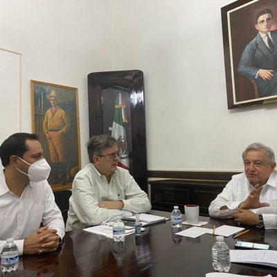 Desde Yucatán, el primer saludo telefónico de AMLO a Joe Biden
