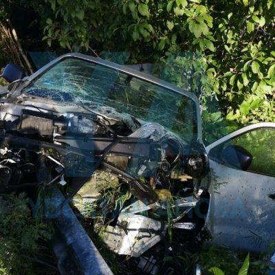 Impactante accidente en la carretera Mérida-Cancún