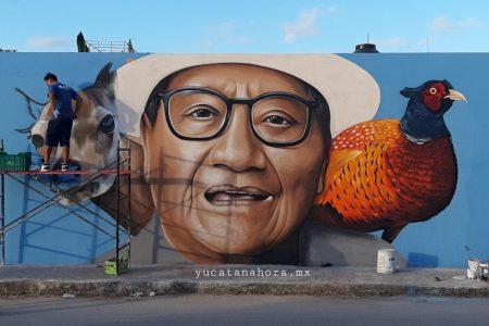 Rinden homenaje Armando Manzanero con un mural en Kanasín