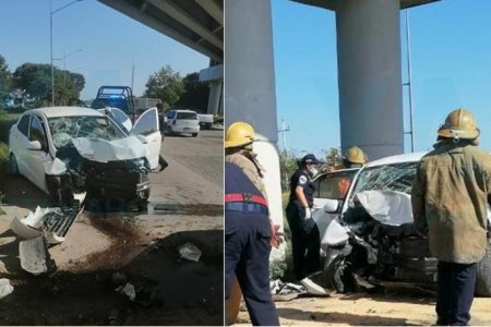 Descartan que sea del Ayuntamiento de Mérida un auto accidentado