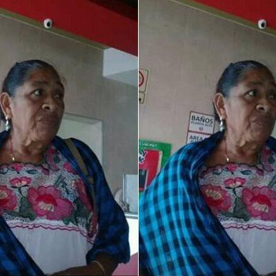 Piden ayuda para localizar a una abuelita extraviada en Timucuy