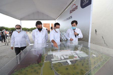 Anuncian reconstrucción de la planta procesadora 'Sahé' de Kekén