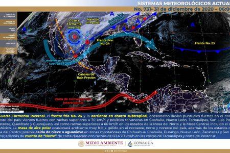 Yucatán recibirá el 2021 con un clima agradable
