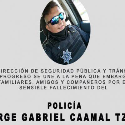 Fallece joven oficial de policía en accidente de tránsito